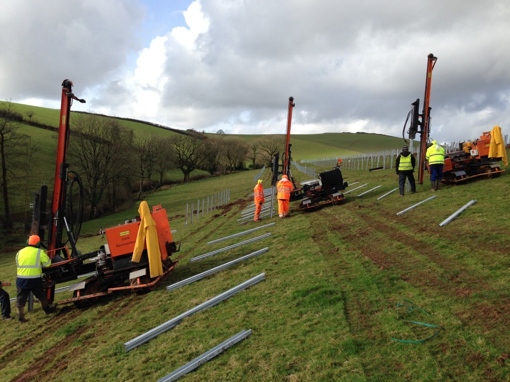 pile driving photovoltaic England