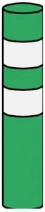 Baliset, pružný sloupek Z11h baliseta