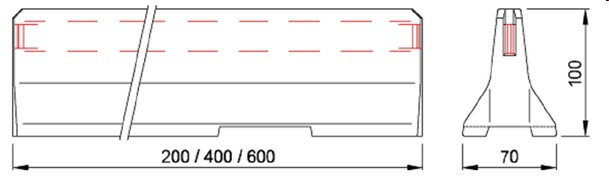 delta bloc 100 cm
