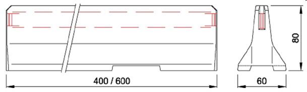 delta bloc 80 cm